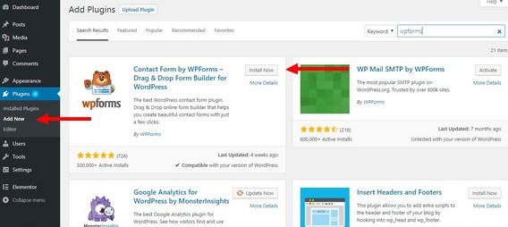 登录WordPress仪表板