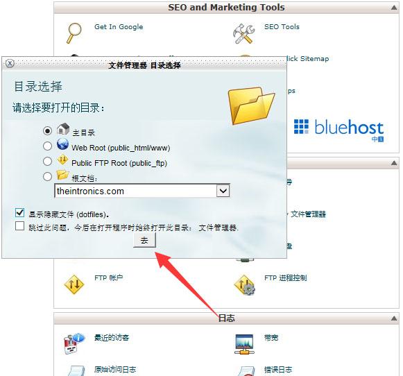 bluehost主机如何删除临时页面