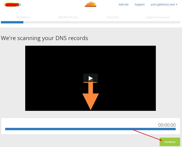 系统会对您的域名开始扫描DNS记录