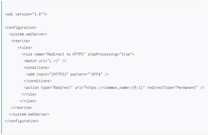 HTTP到HTTPS重定向设置- IIS