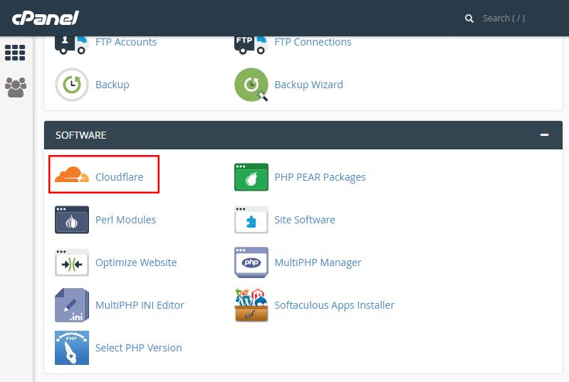 如何在虚拟主机cPanel控制面板上启用Cloudflare