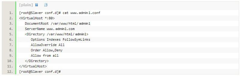 添加站点的配置文件