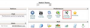 bluehost操作面板切换中文方式