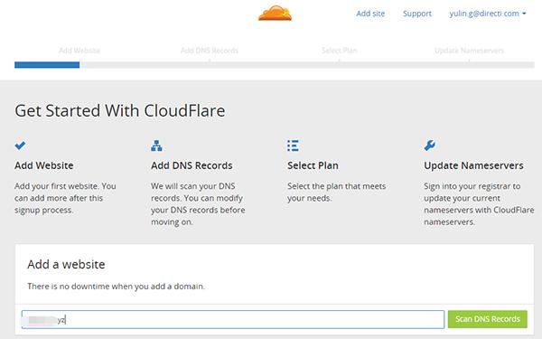 选择CloudFlare套餐