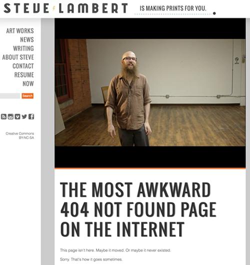 Steve Lambert 网站的404页面