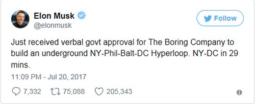 Elon Musk谈及hyperloop