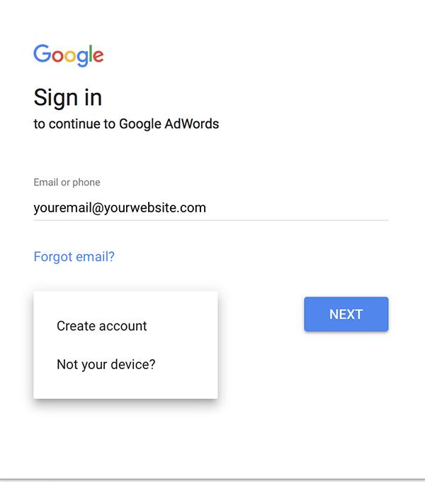 电子邮件地址的选择