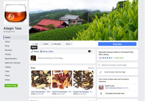 Adagio teas的Facebook封面图