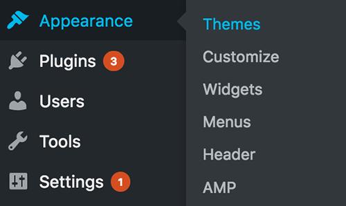 WordPress仪表盘——外观