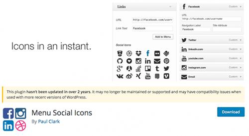 Menu Social Icons