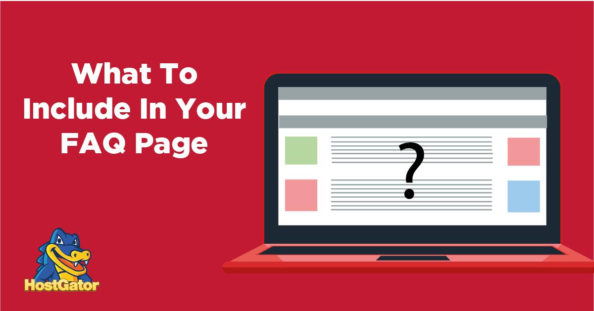 每个新业务的FAQ页面上应该包括哪些内容