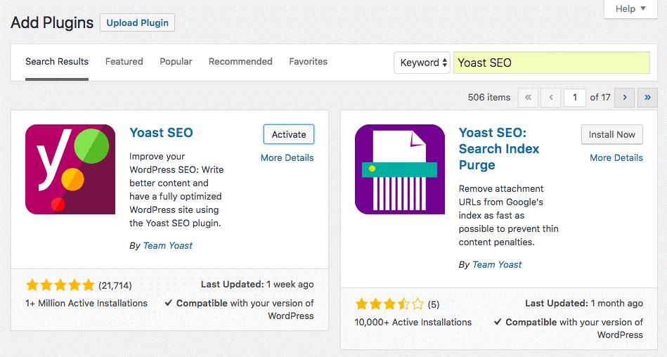 如何安装WordPress的SEO插件